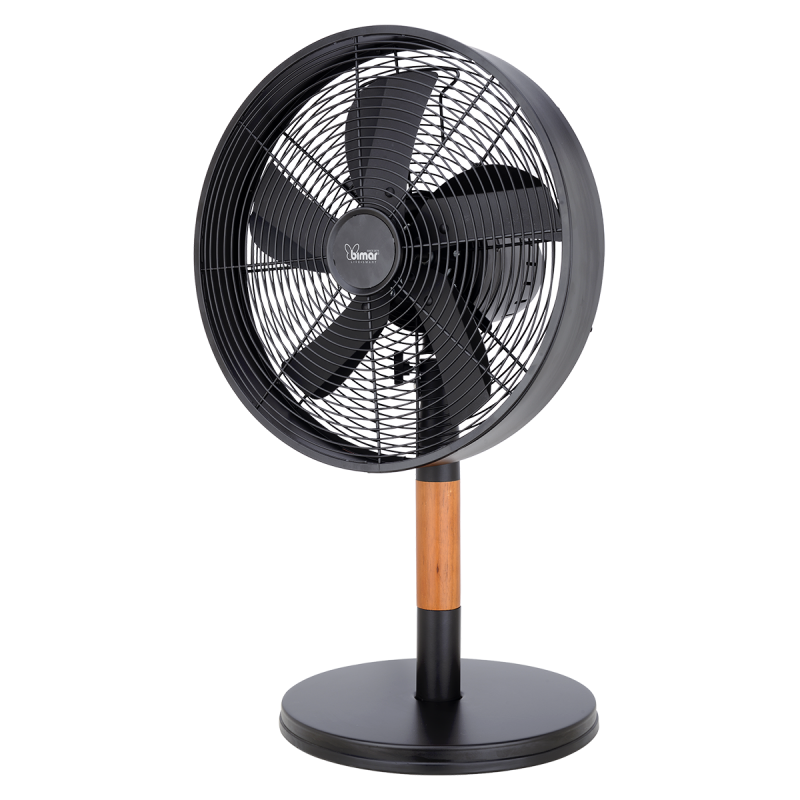 Metal and wooden table fan, 30cm