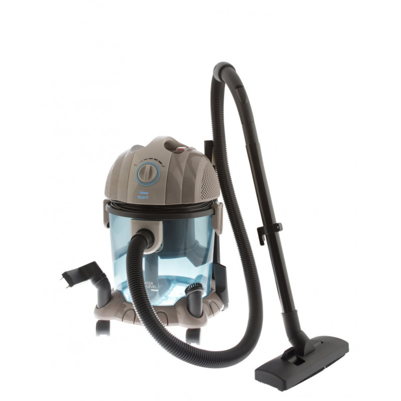 Wet and dry vacuum cleaner with water tank, hepa...