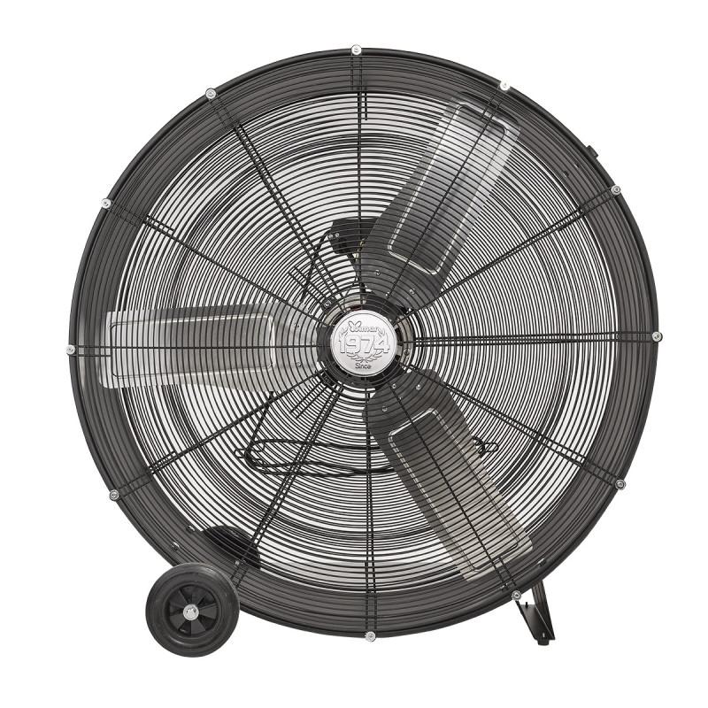 Ventilatore da pavimento nero industriale 90cm VI93