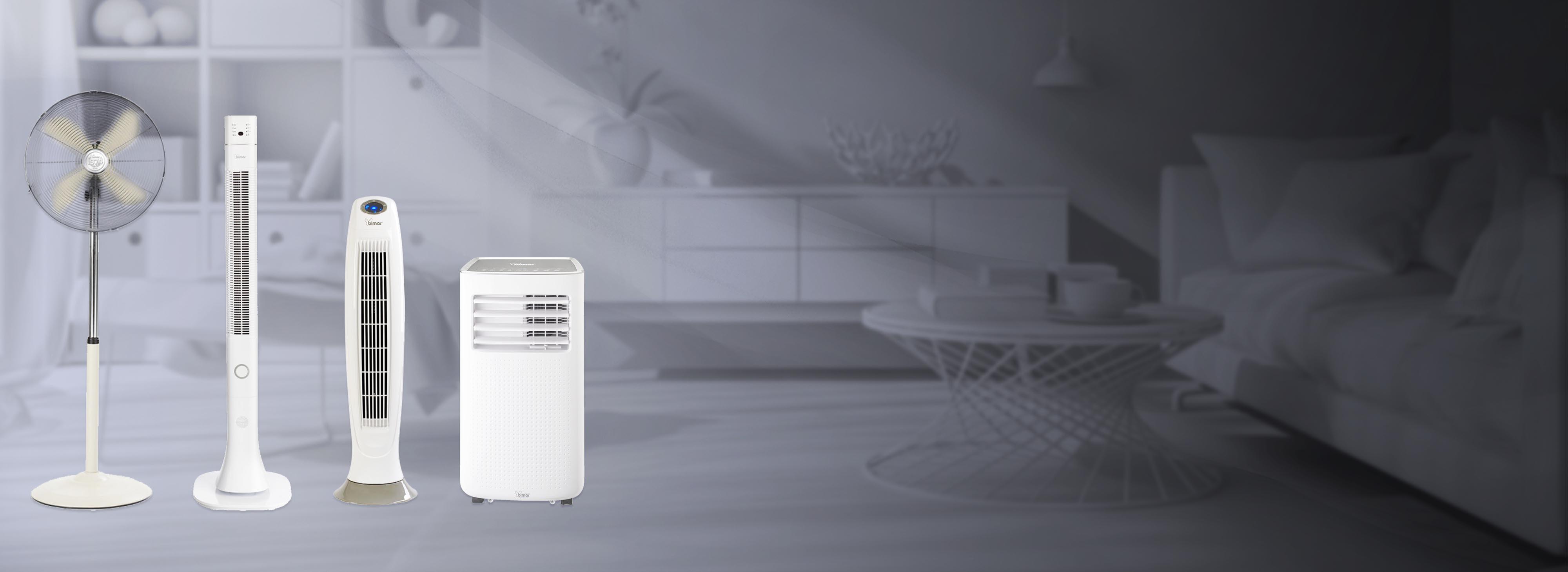 Condizionatori, raffrescatori e ventilatori
